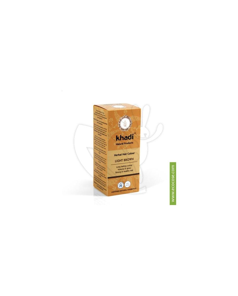 Khadi - Tinta vegetale Castano chiaro (Hennè Castano chiaro)