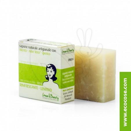 Green&Beauty - Sapone naturale artigianale con Menta, Aloe e Iperico