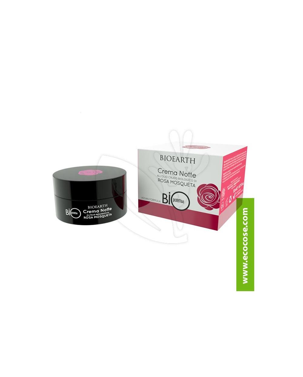 Bioearth - Bioprotettiva - Crema Notte all'olio crudo di Rosa Mosqueta Bio