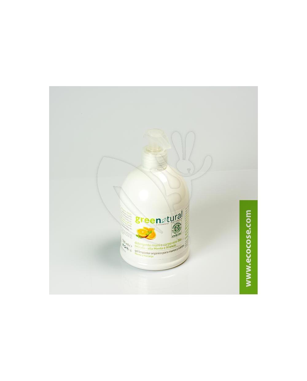 Greenatural - Detergente delicato mani-corpo Menta e Arancio