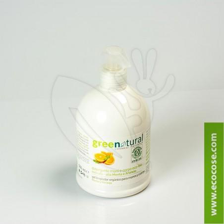 Greenatural - Detergente delicato mani-corpo Menta e Arancio 500 ml