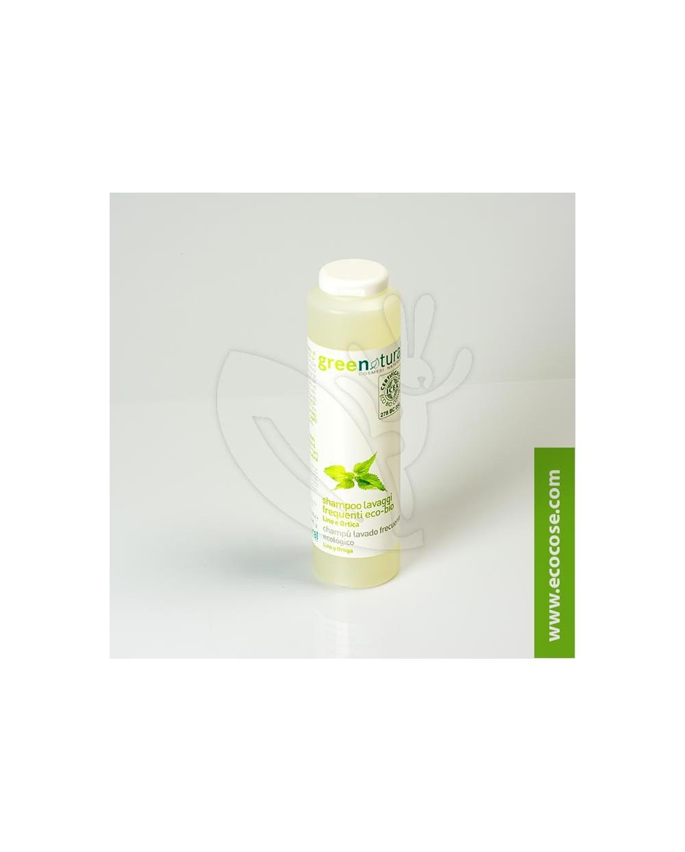Greenatural - Shampoo lavaggi frequenti Lino e Ortica