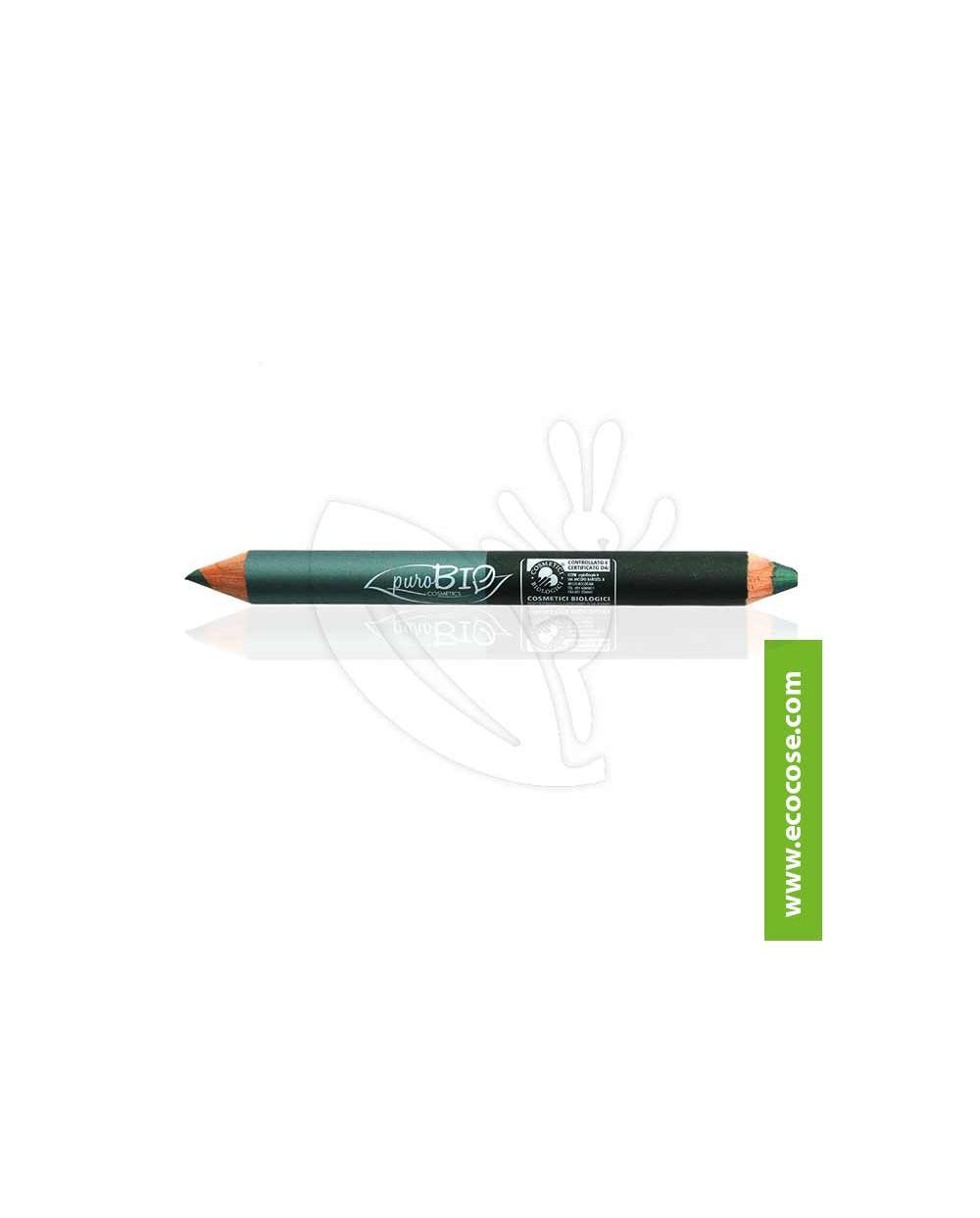 PuroBIO Cosmetics - Matitone Duo Biologico NIGHT 02 Ottanio-Verde Smeraldo