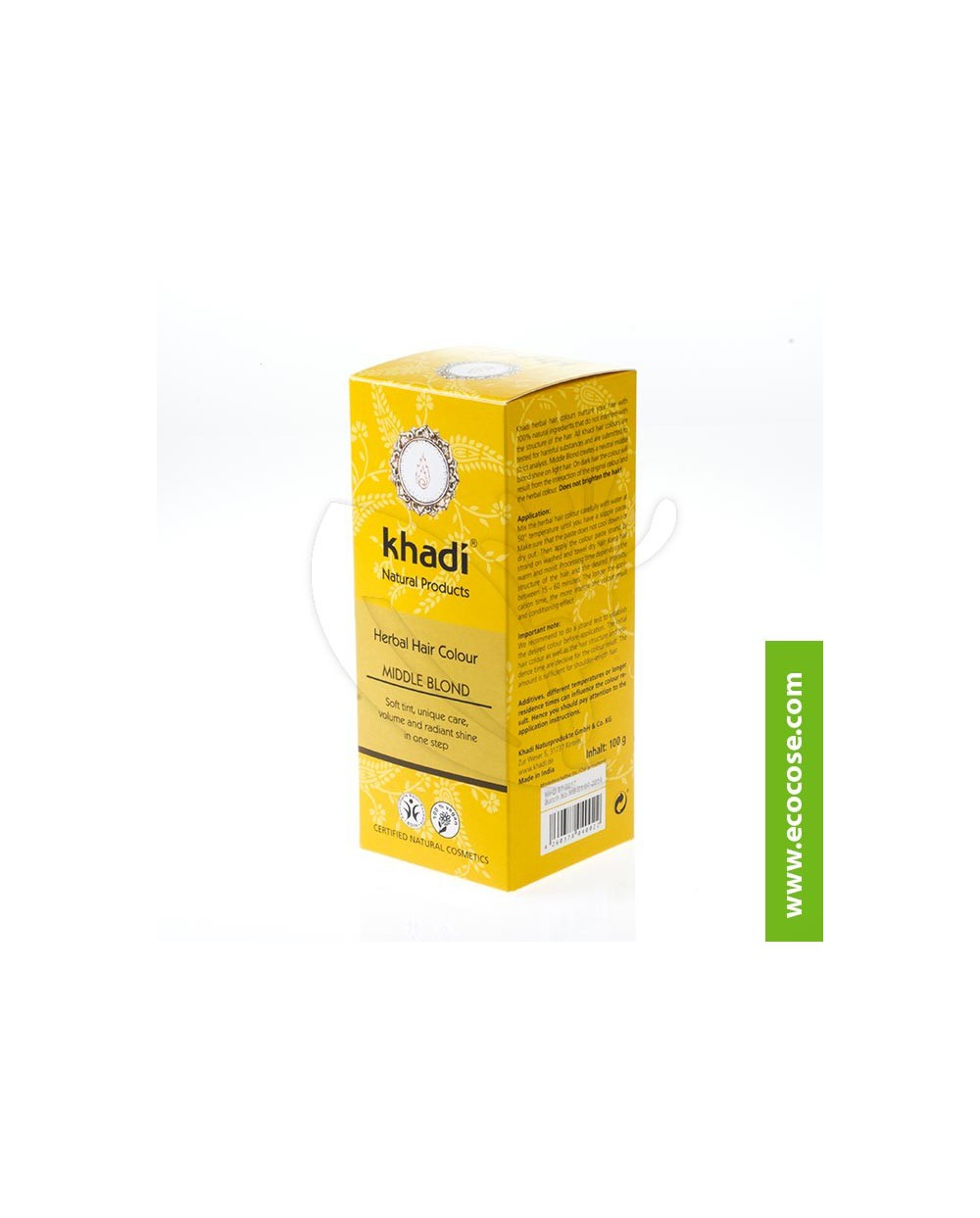 Khadi - Tinta vegetale Biondo Medio (Henné Biondo Medio)
