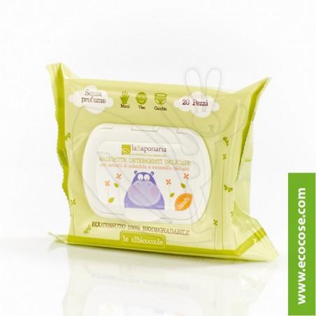 La Saponaria - Le Albicoccole - Salviette detergenti delicate