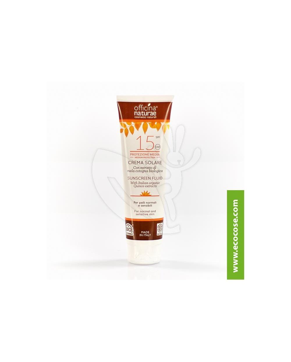 Officina Naturae - Crema fluida Solare SPF 15 Protezione media