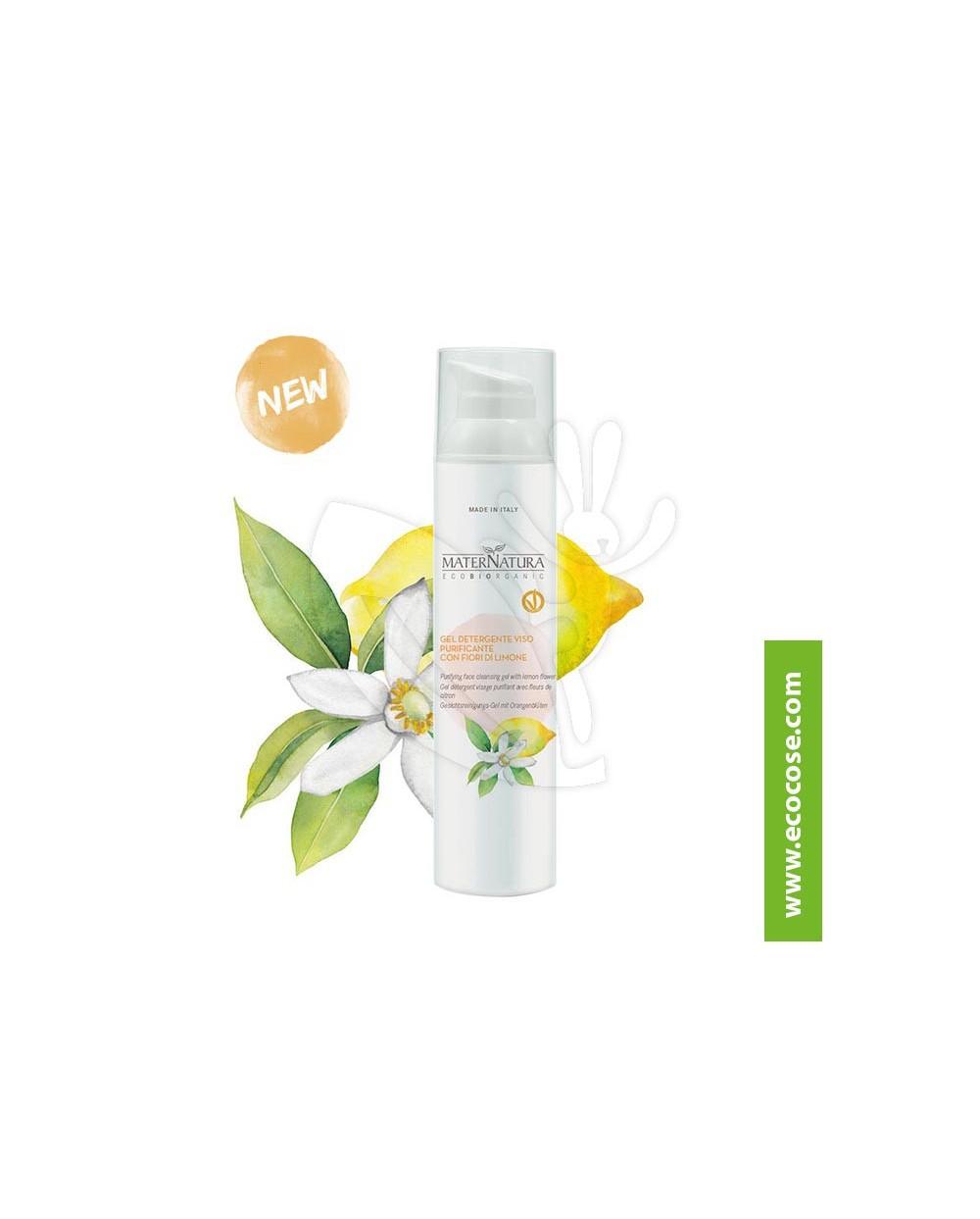 Maternatura - Gel detergente viso purificante con fiori di limone