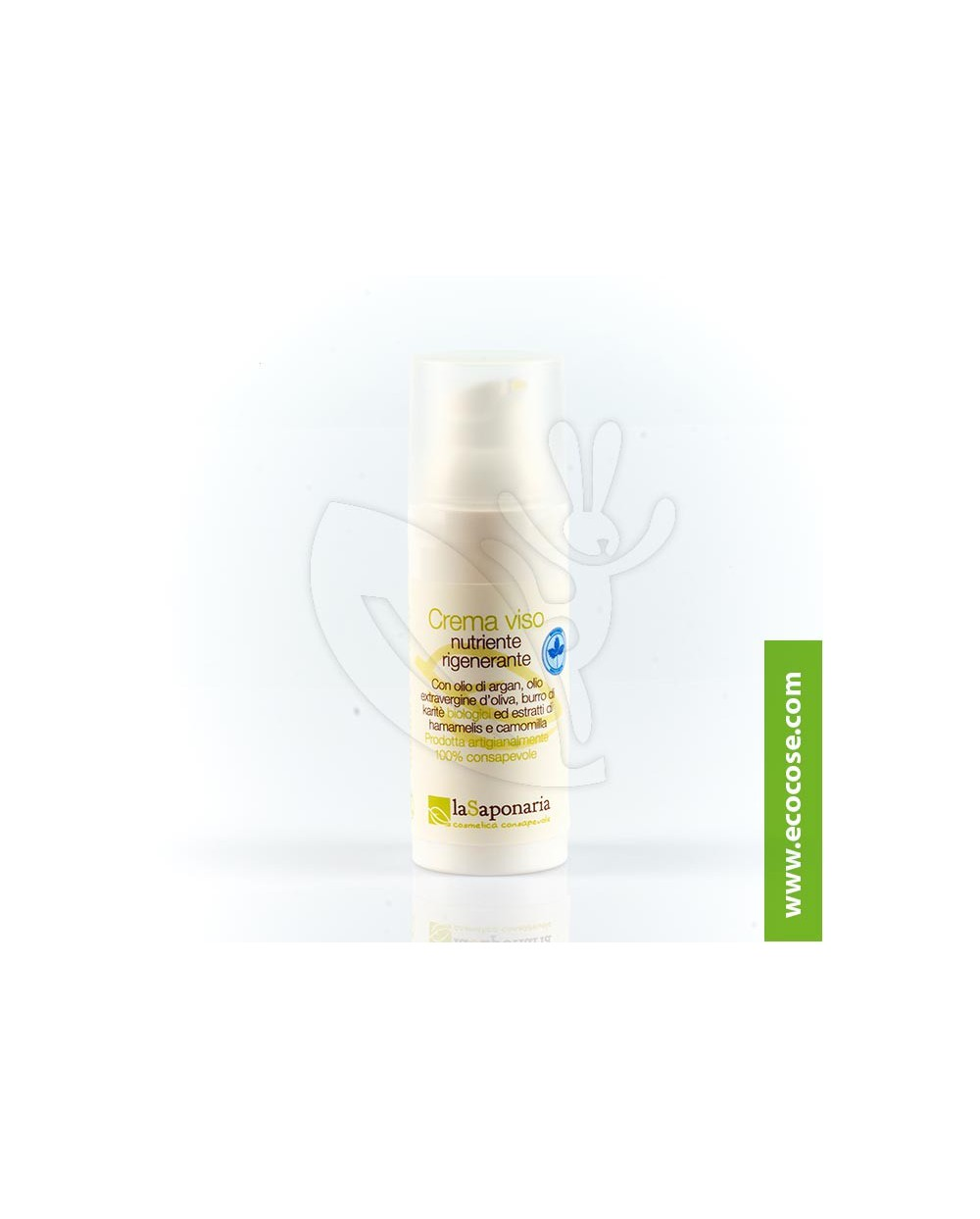 La Saponaria - Crema viso nutriente rigenerante Argan e Karité