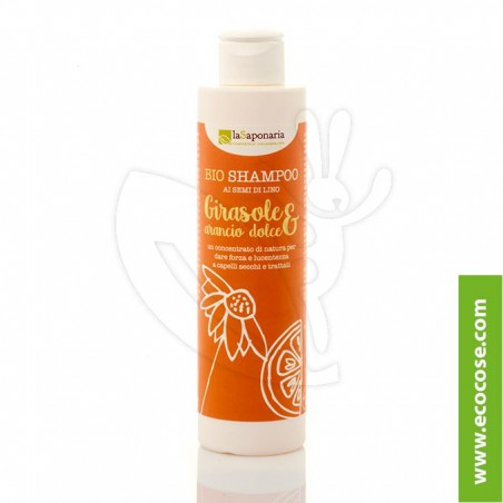 La Saponaria - Shampoo girasole e arancio dolce - capelli secchi