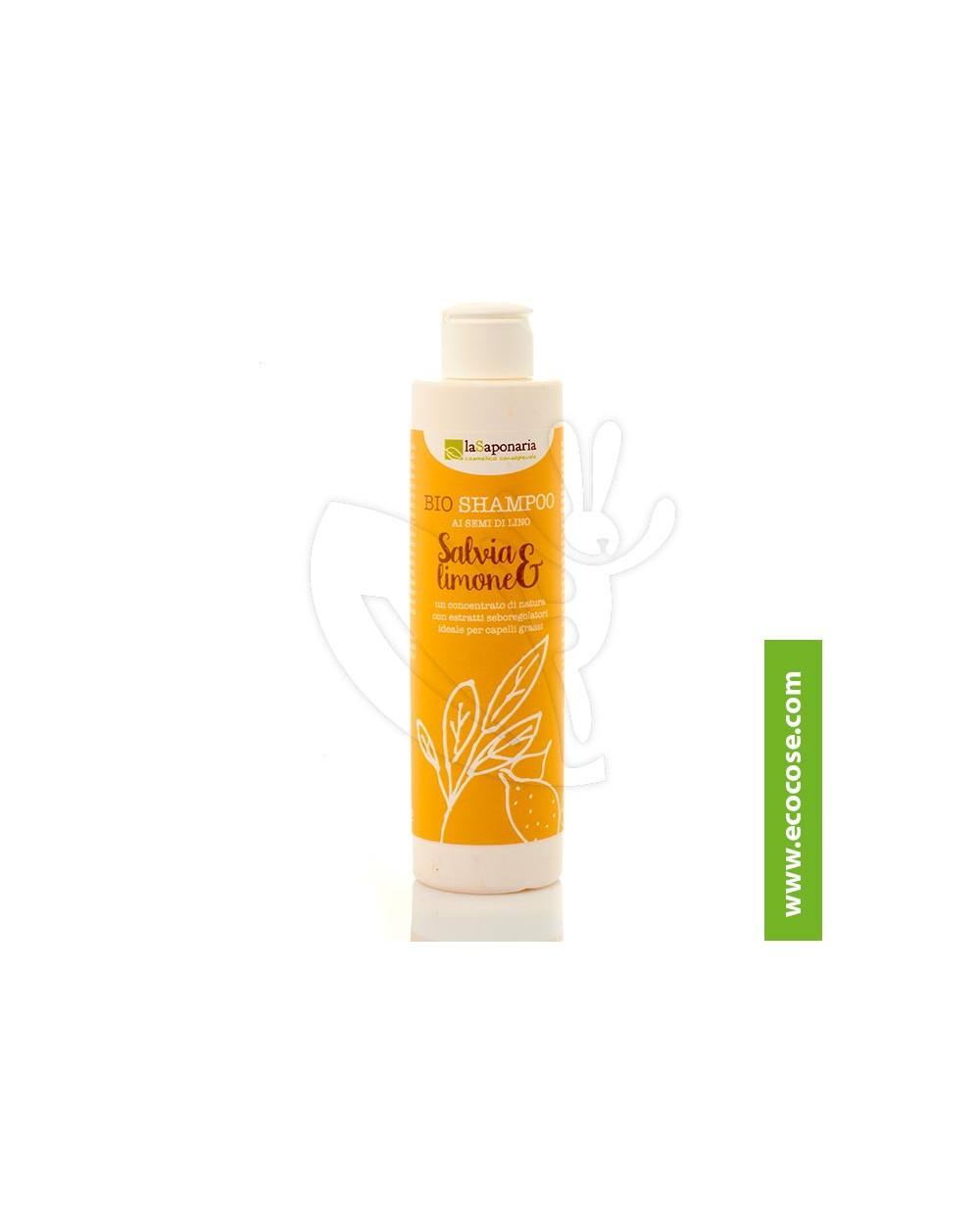 La Saponaria - Shampoo salvia e limone - capelli grassi