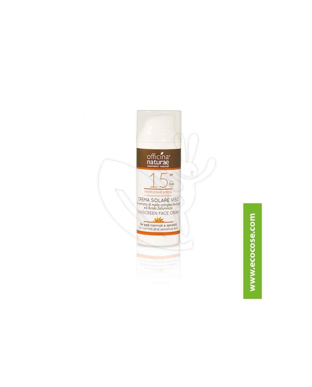 Officina Naturae - Crema Solare Viso SPF 15 Protez. media - AIRLESS