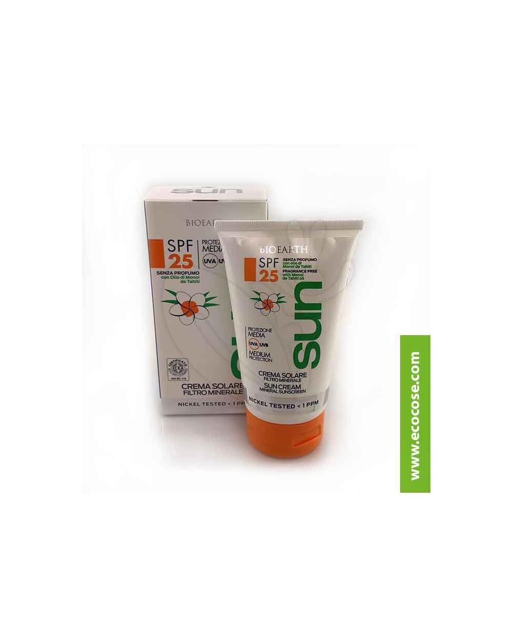 Bioearth Sun - Crema solare protezione Media spf 25 Filtro minerale