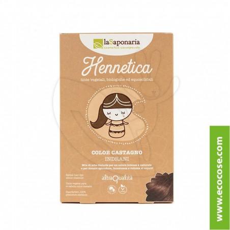 La Saponaria - Hennetica - Tinta vegetale castagno Indrani