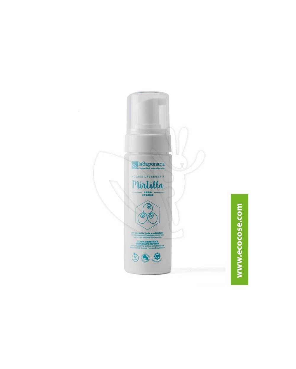La Saponaria - Costituzionale - Mousse detergente Mirtilla