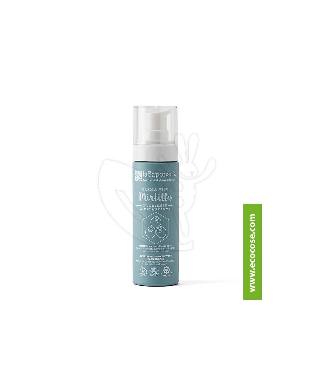 La Saponaria - Costituzionale - Crema viso nutriente vellutante Mirtilla