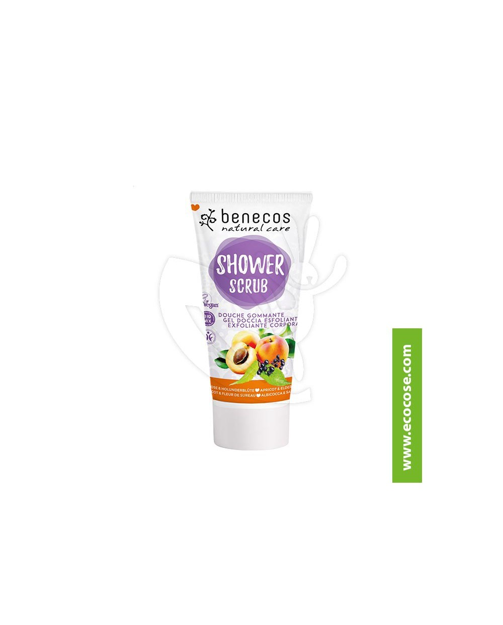 Benecos - Natural Care - Shower Scrub - Albicocca e Fiori di Sambuco