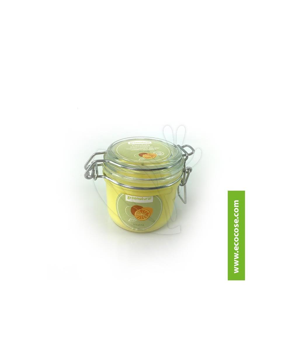 Greenatural - Candela essenziale Vitalità - Arancio, Limone e Palmarosa
