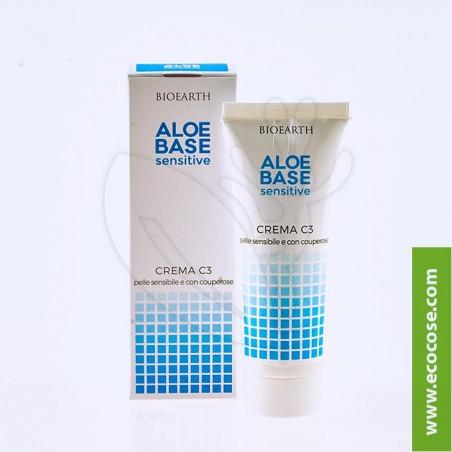Bioearth - Aloebase Sensitive - Crema C3 - Couperose