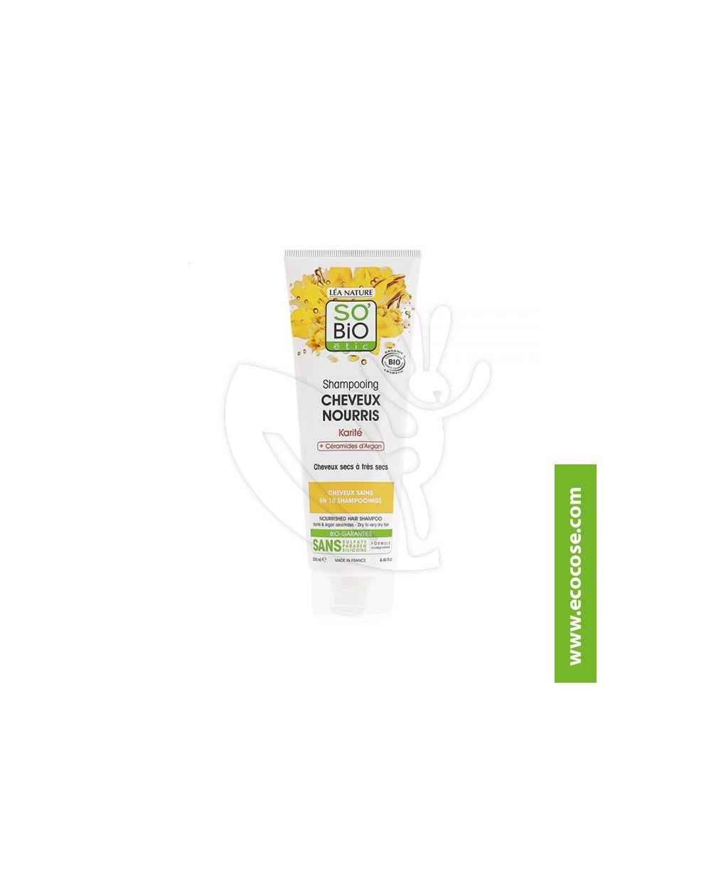 So' Bio Étic - Shampoo nutriente Karité e ceramidi di Argan
