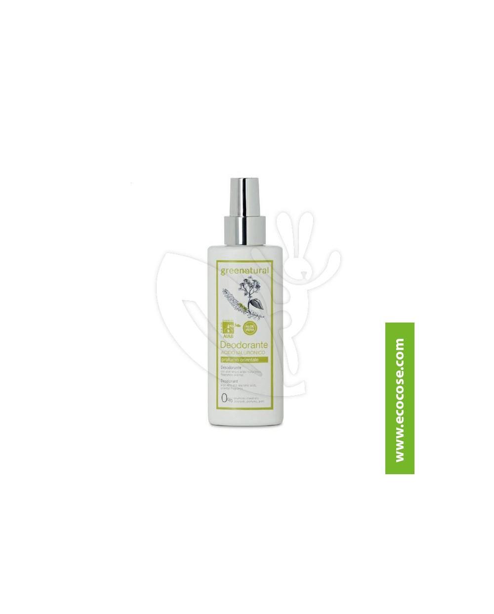 Greenatural - Deodorante SPRAY Acido Ialuronico - Profumo Orientale