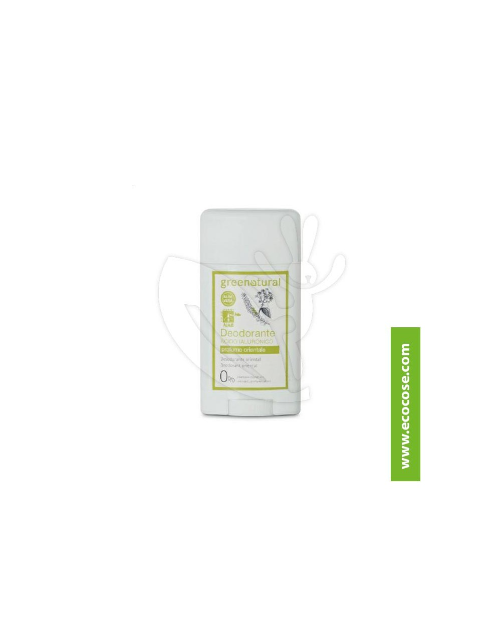 Greenatural - Deodorante stick in gel Acido Ialuronico - Profumo Orientale
