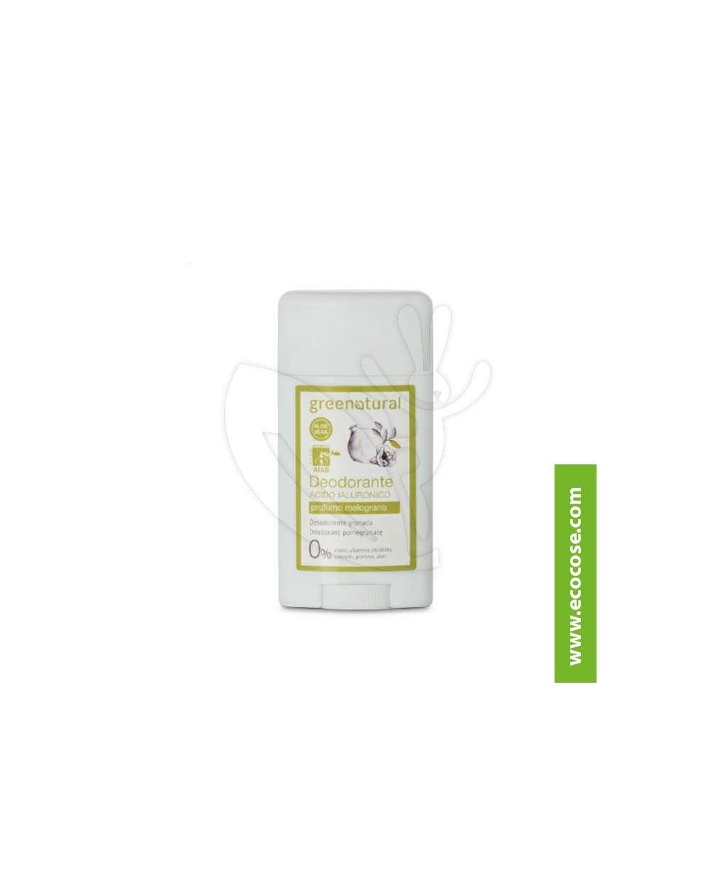 Greenatural - Deodorante stick in gel Acido Ialuronico - Melograno
