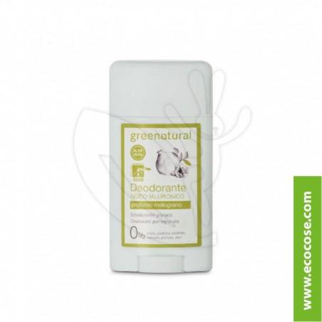 Greenatural - Deodorante stick Acido Ialuronico - Melograno