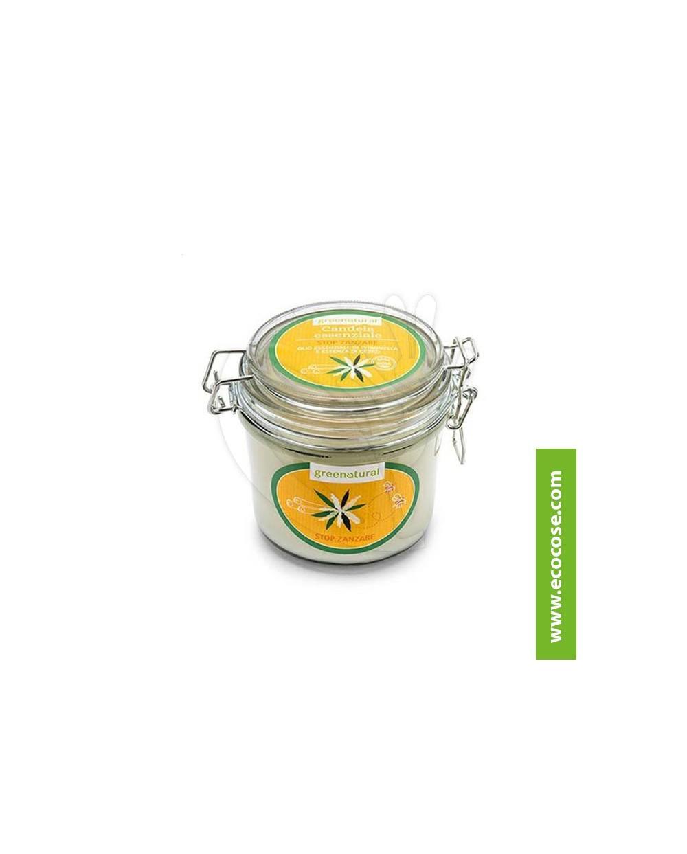 Greenatural - Candela essenziale STOP ZANZARE - Cedro e Citronella 200GR