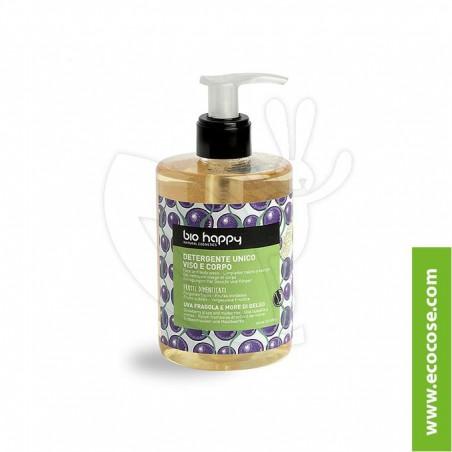 Bio Happy - Detergente unico viso corpo Uva fragola e More di gelso
