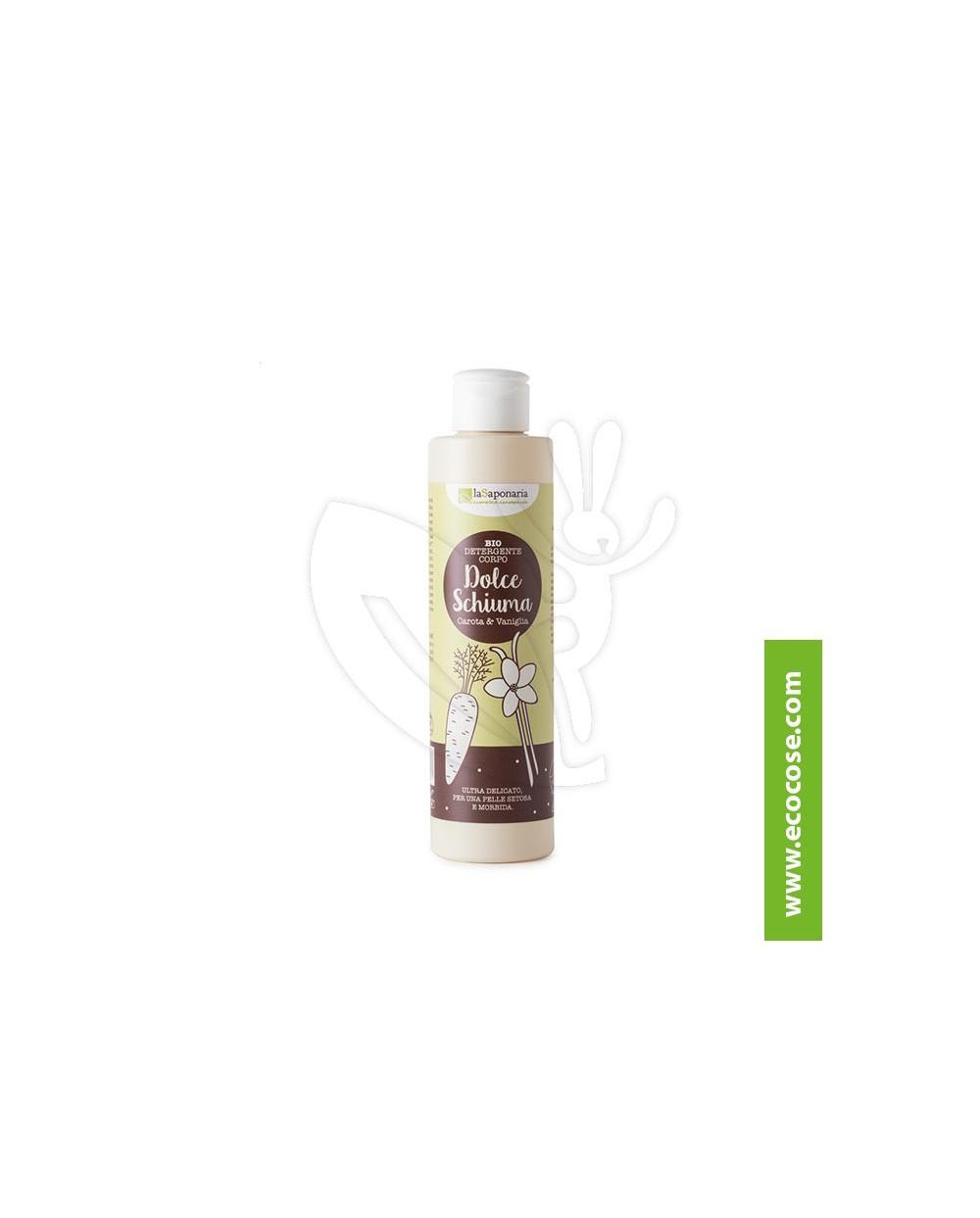 La Saponaria - Radici - Detergente corpo Vaniglia e Carota – Dolce schiuma