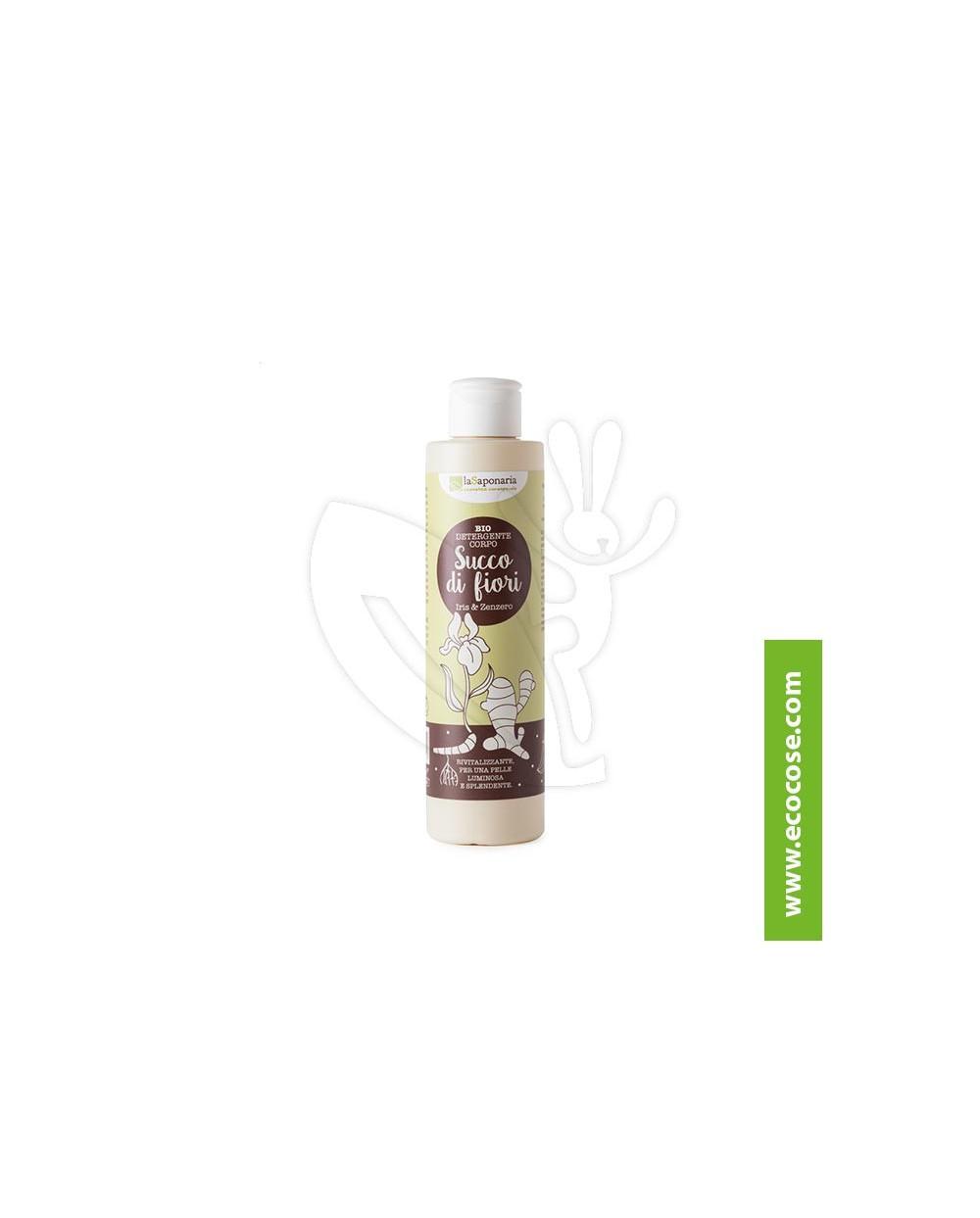 La Saponaria - Radici - Detergente corpo Iris e Zenzero – Succo di fiori