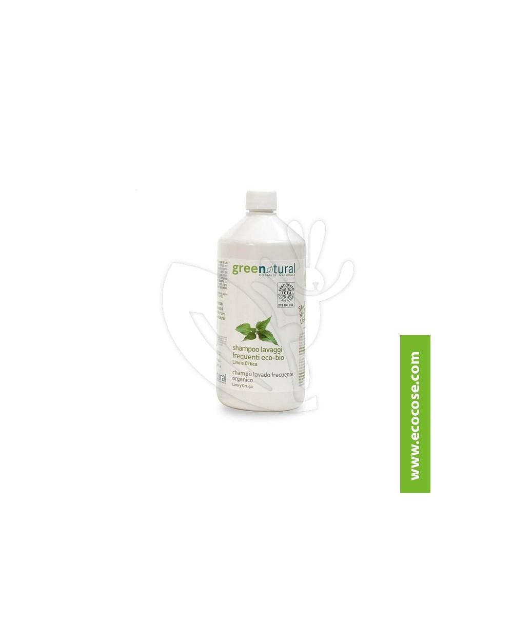 Greenatural - Shampoo lavaggi frequenti Lino e Ortica  RICARICA