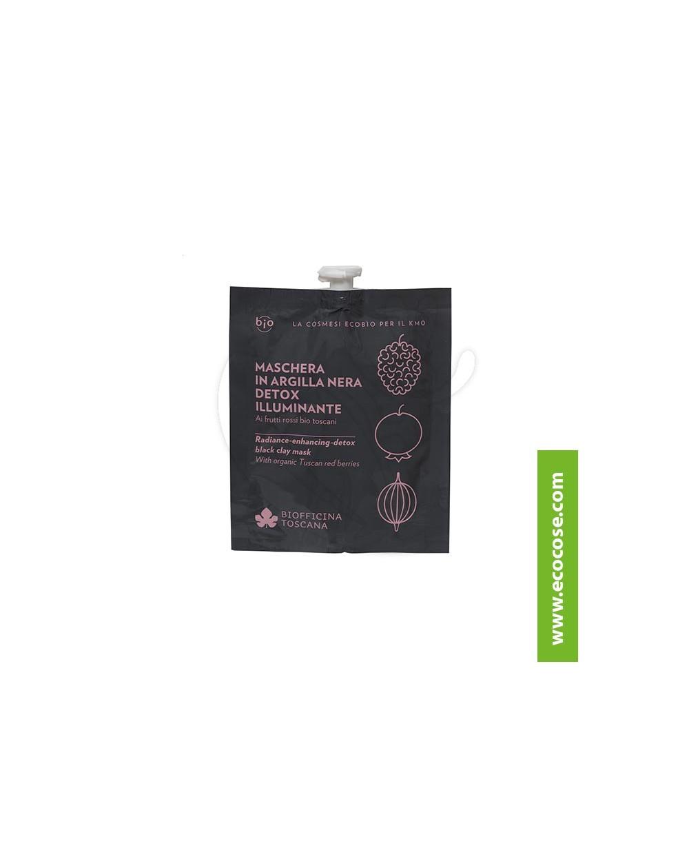 Biofficina Toscana - Maschera in argilla nera detox illuminante
