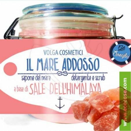 Volga cosmetici - Il Mare Addosso Detergente Scrub - Sale Rosa dell'Himalaya