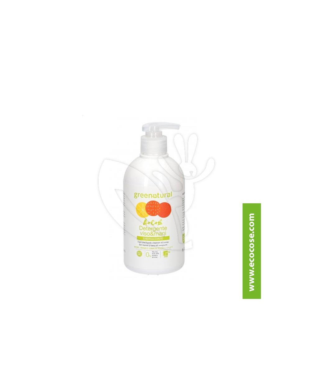 Greenatural - A+C+E - Detergente viso e mani RICARICA