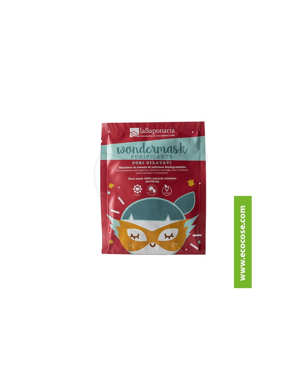 La Saponaria - Wondermask - Maschera in tessuto (biodegradabile) purificante
