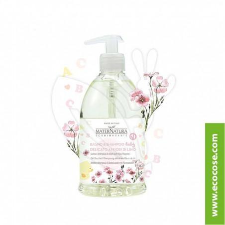 Maternatura - Baby & Mamy - Bagno e shampoo delicato ai fiori di lino