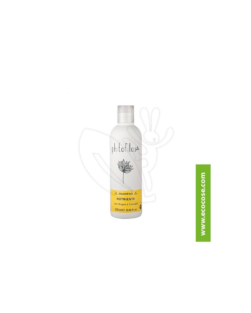 Phitofilos - Shampoo nutriente Argan e Canapa (Gocce d''oro)