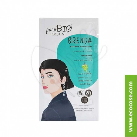 PuroBIO for skin - BRENDA - Maschera viso in crema - 03 Uva verde
