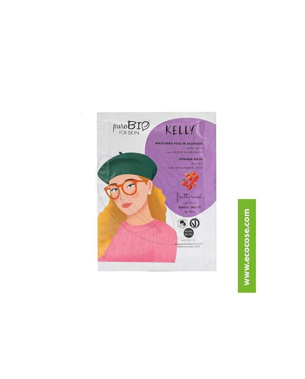PuroBIO for skin - KELLY - Maschera viso in alginato - 07 Frutti rossi