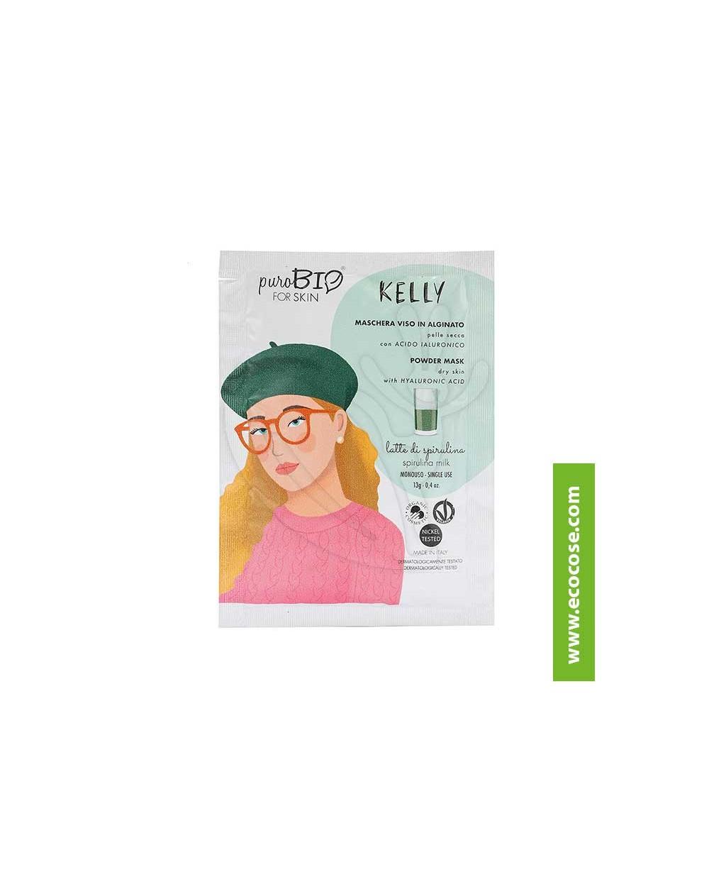 PuroBIO for skin - KELLY - Maschera viso in alginato - 09 Latte di spirulina