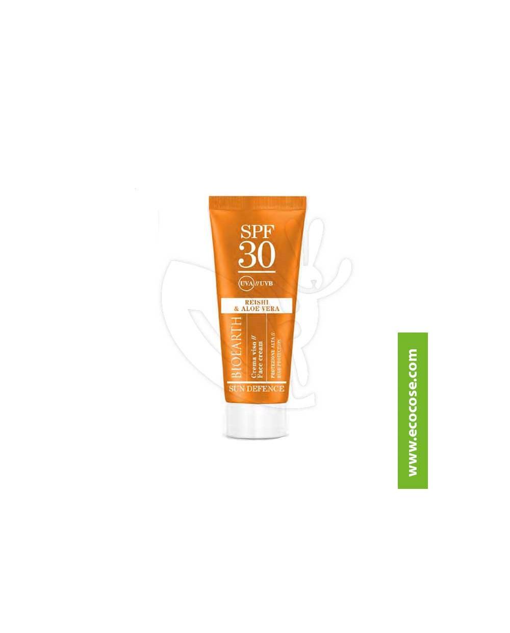 Bioearth Sun Defence - Crema solare viso protezione alta spf 30 Reishi e Aloe Vera