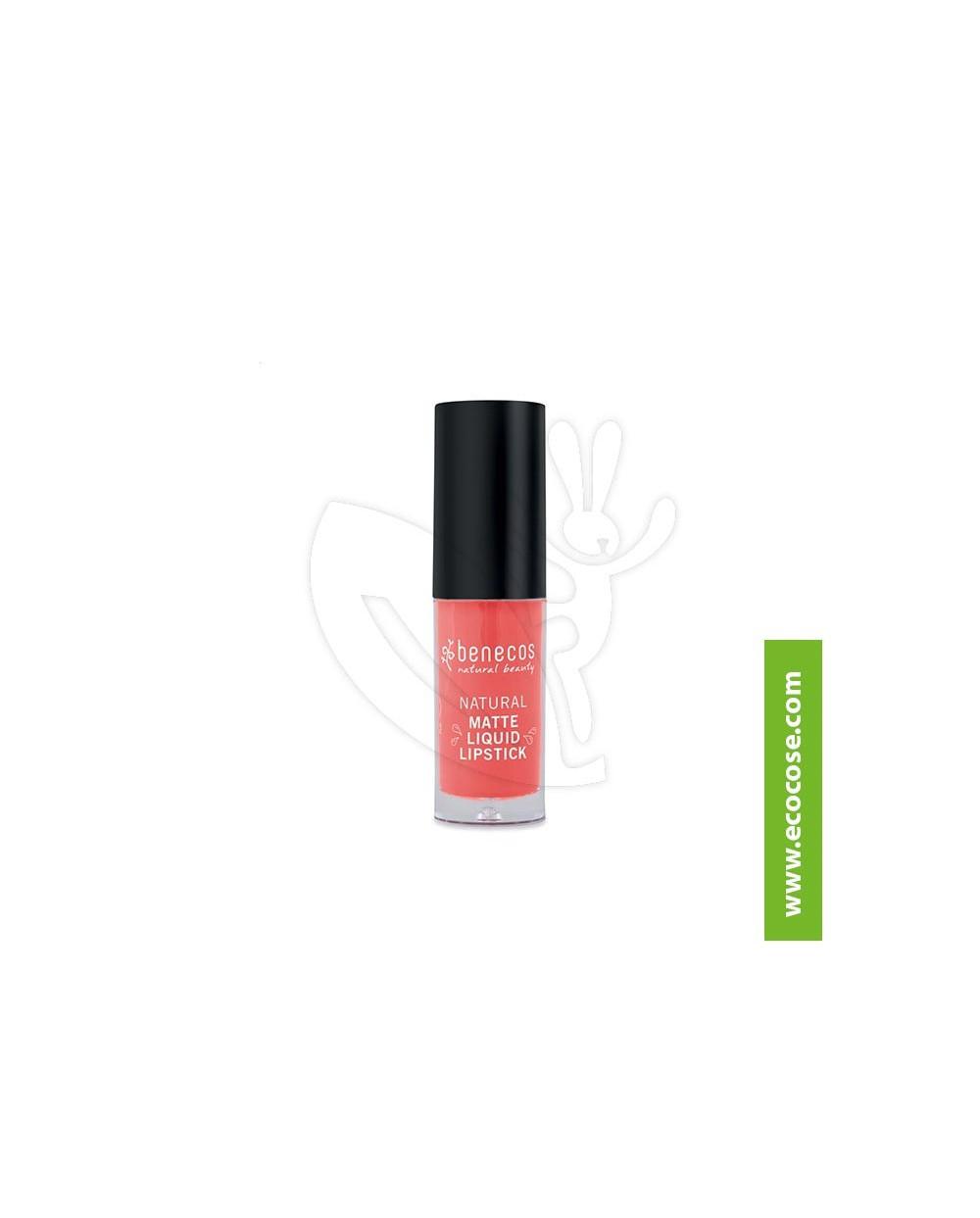 Benecos - Rossetto liquido matte - Coral Kiss