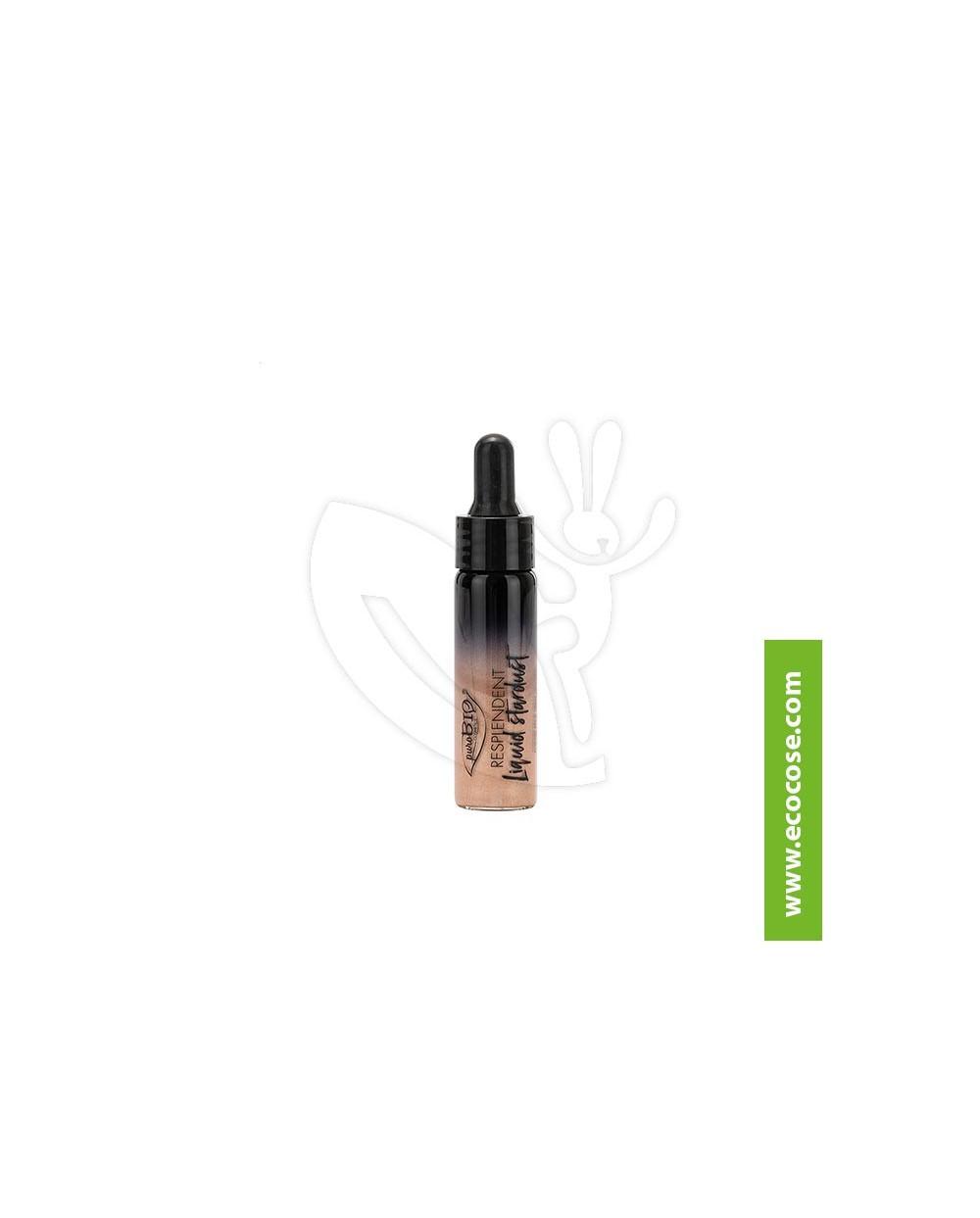 PuroBIO Cosmetics - Resplendent - Liquid Stardust highlighter 01 Champagne