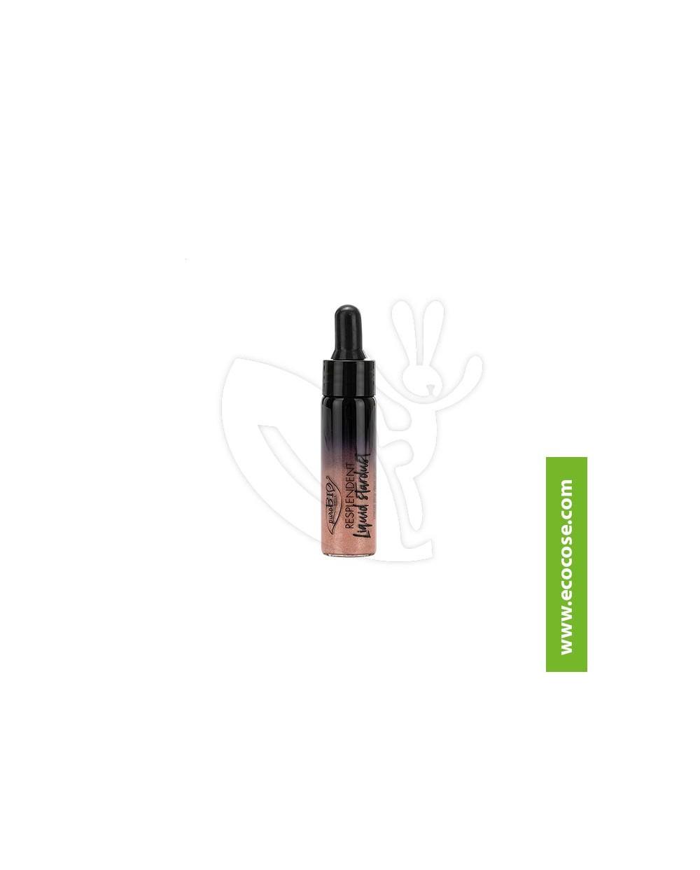 PuroBIO Cosmetics - Resplendent - Liquid Stardust highlighter 02 Oro Rosa