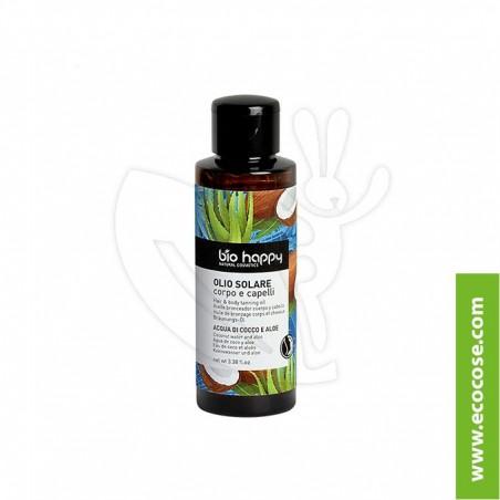 Bio Happy - Olio solare corpo e capelli - Mango e carota nera