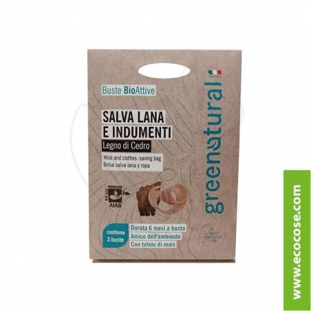 Greenatural - Buste Bioattive Salva Lana e indumenti - Legno di Cedro