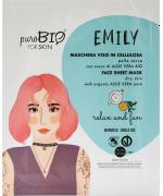 PuroBIO Cosmetics - Maschera viso EMILY pelle secca relax and fun