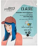 PuroBIO Cosmetics - Maschera viso CLAIRE pelle grassa relax and fun