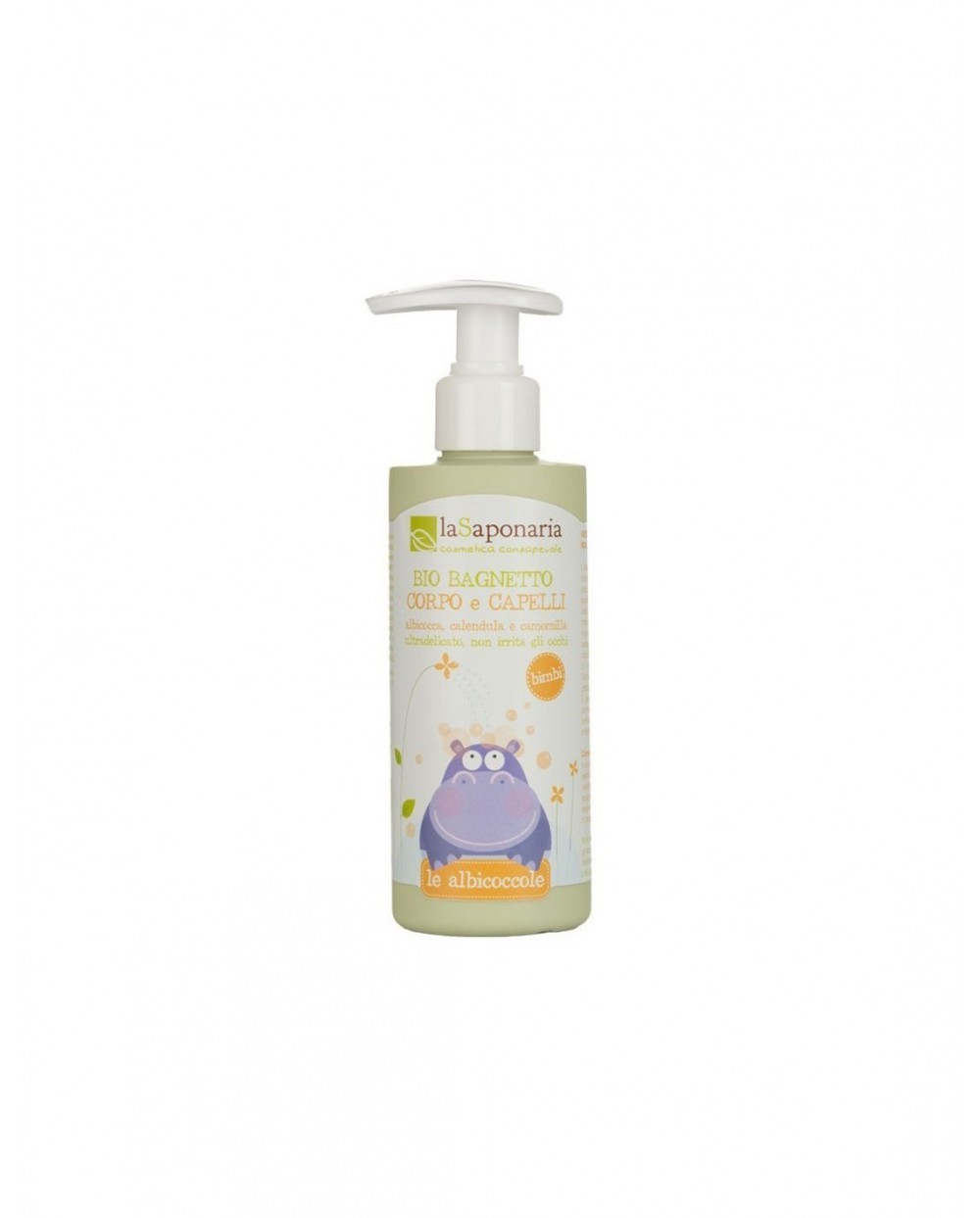 La Saponaria - Le Albicoccole - Bio bagnetto corpo e capelli 200ml